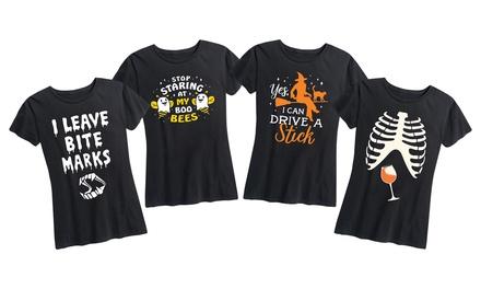 Women's Funny Halloween Graphic Tee Sizes S–4X
