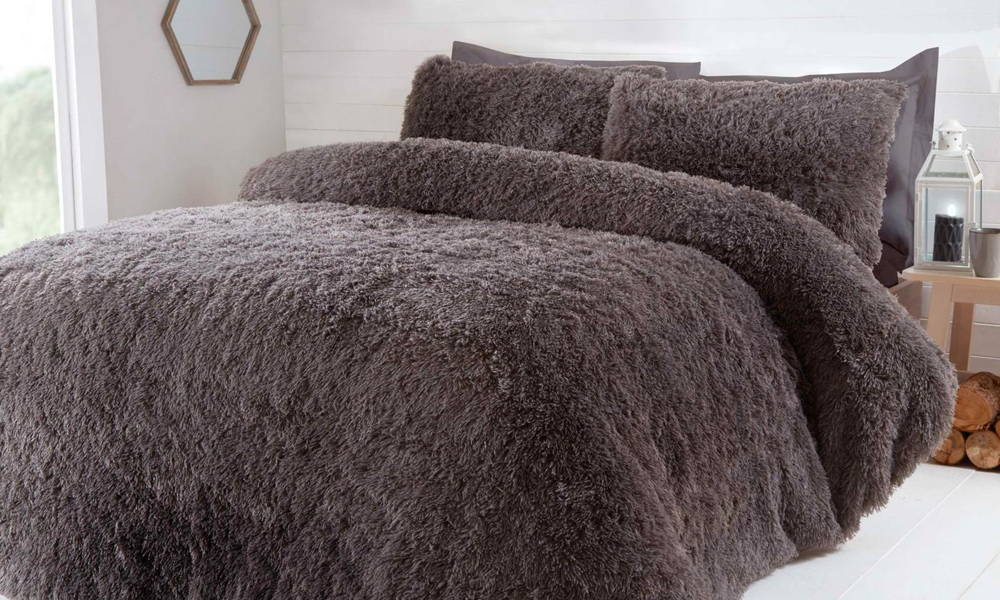 Rapport Home Faux Fur Duvet Set