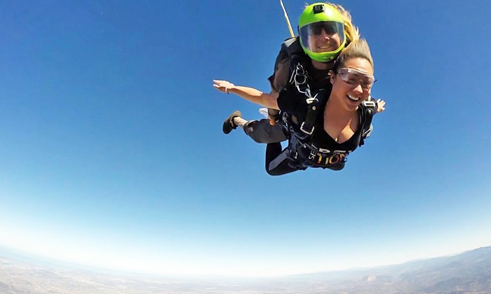 Skydiving deals in San Diego, CA: 50 to 90% off deals in San Diego. 13, Feet Tandem Skydive and T-Shirt with Optional Video for One (Up to 29% Off). One Tandem Skydiving Jump from GoJump Oceanside (Up to 53% Off). Two Indoor Jumps for One or Two at Skydive Perris (Up to 41% Off).