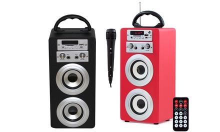 Altavoz con karaoke y mando a distancia Sound Box