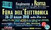 Fiera dell'Elettronica 2018, Roma