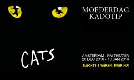 Moederdag kado: vroegboekkorting tot 33% voor CATS de internationale hitmusical in het RAI Theater