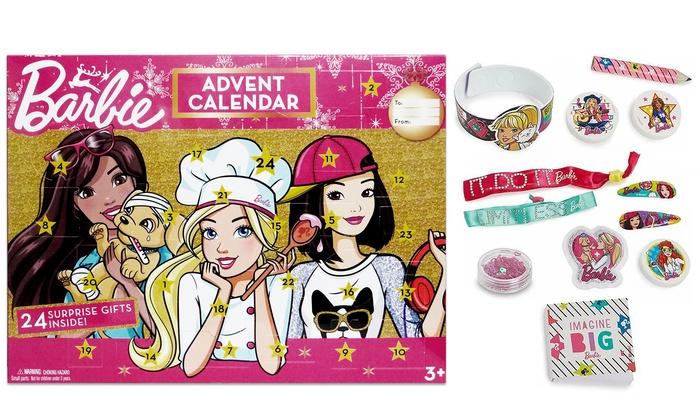 TitoloCalendario dell'Avvento Barbie Mattel con 24 mini regali