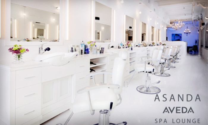 Asanda Aveda Spa Lounge - Asanda Spa Lounge: One, Three, or Five Signature Aveda Packages with Blowout and Style, Makeup Application, and Hair-Spa Treatment at Asanda Aveda Spa Lounge (Up to 72% Off)