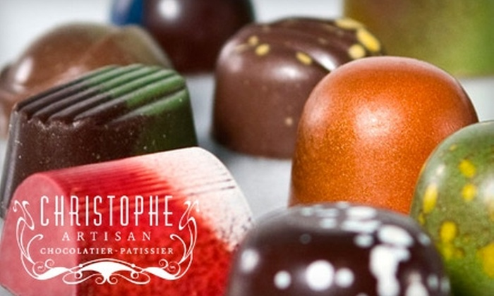 Christophe Artisan Chocolatier-Pâtissier - Multiple Locations: $10 for $20 Worth of Hand-Painted Chocolates, Truffles, and Desserts at Christophe Artisan Chocolatier-Pâtissier