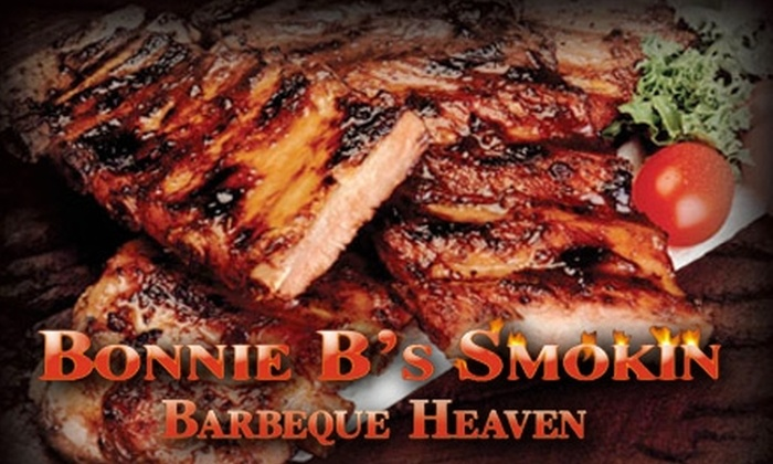 Bonnie B's Smokin Barbecue Heaven - East Central: $10 for $20 Worth of Ribs, Briskets, Chicken, and More at Bonnie B's Smokin Barbeque Heaven in Pasadena