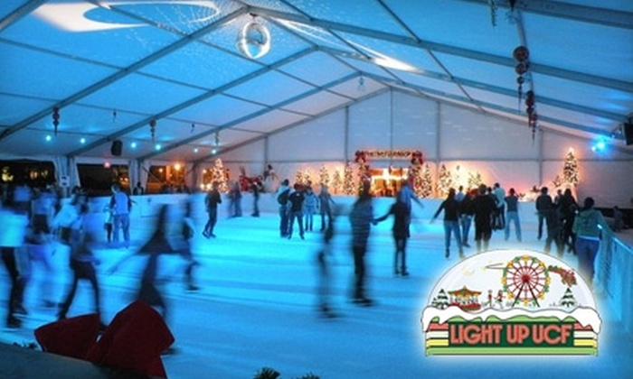 """UCF Arena - Union Park: $7 for Ice Skating Wristband and Skate Rental for """"Light Up UCF"""" at UCF Arena"""