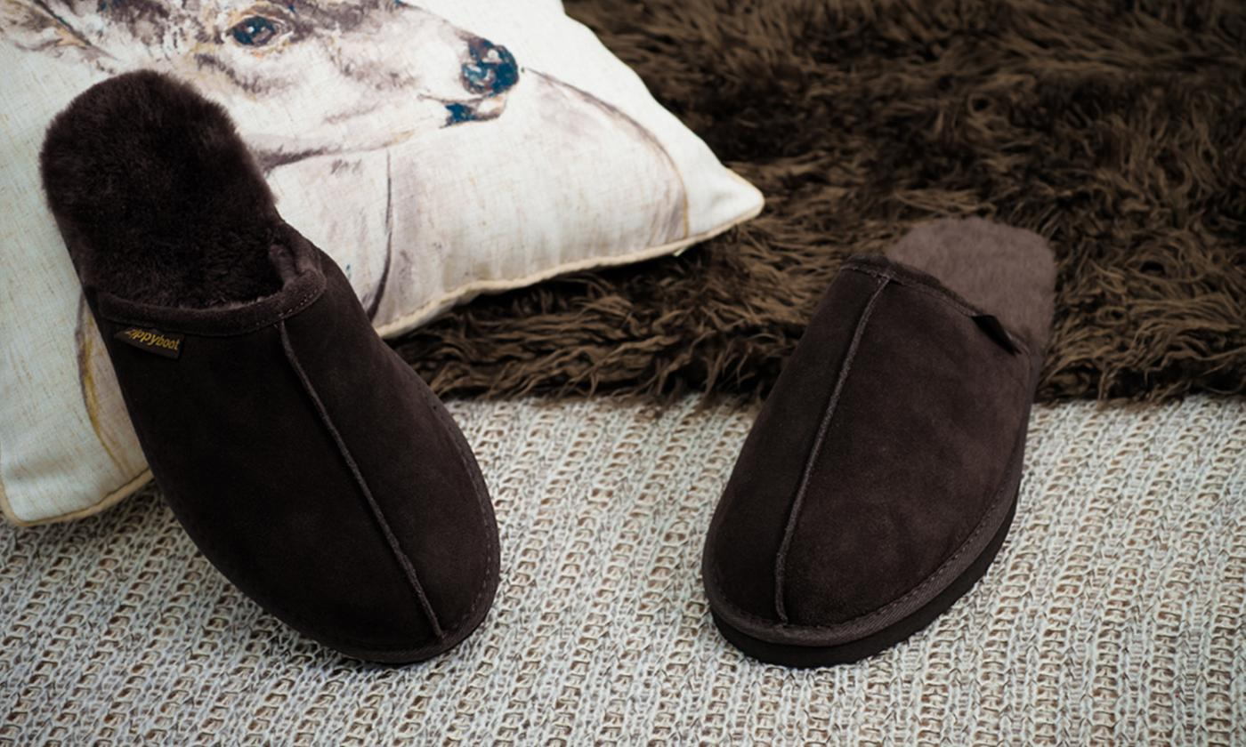 Redfoot Men's Sheepskin Slippers