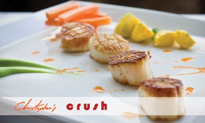 Christopher's - Phoenix: $15 for $30 Worth of Upscale Bistro-Inspired Fare and Drinks at Christopher's Restaurant or Crush Lounge