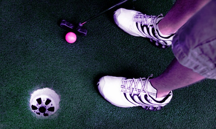Park Royal Family Fun Centre - Clarkson: $10 for a Glow-in-the-Dark Mini-Golf Outing for Up to Five People at Park Royal Family Fun Centre in Mississauga