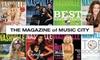 "Nashville Lifestyles - Nashville: $8 for a One-Year Subscription to ""Nashville Lifestyles"" Magazine ($18 Value)"