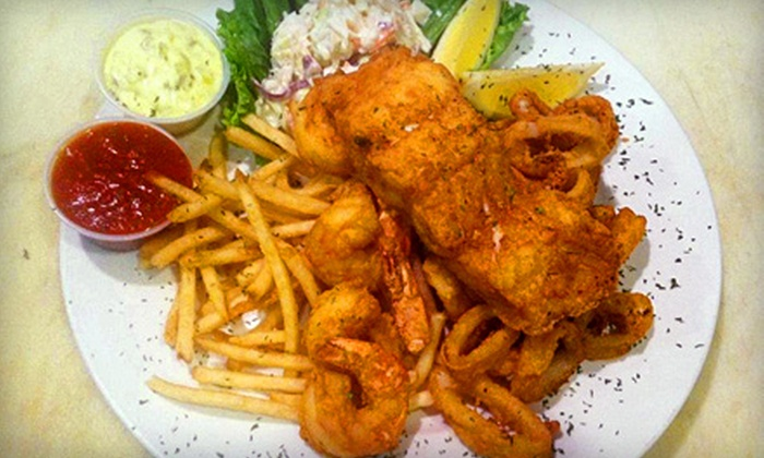 Bell in Hand Tavern - Downtown: New England Seafood Sampler Dinner for Two or Four at Bell in Hand Tavern