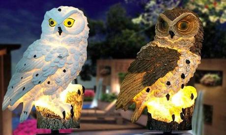 1 o 2 luci a Led da giardino con gufo disponibili in 2 colori con spedizione gratuita