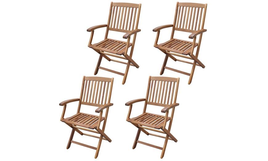 Tavolo e sedie da esterno in legno | Groupon