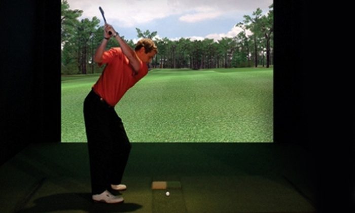 Tee Time Bar & Grill - Multiple Locations: $25 for Two Hours of Play on a PGA Tour Golf Simulator at Tee Time Bar & Grill