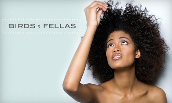 Birds & Fellas - East Village: $34 for a Women's Haircut ($66.88 Value) or $27 for a Men's Haircut ($51.21 Value) at Birds & Fellas
