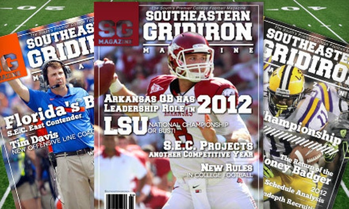 "Southeastern Gridiron Magazine - Little Rock: One-Year Silver or Gold or Two-Year Gold Subscription to ""Southeastern Gridiron Magazine"" (Up to 75% Off)"