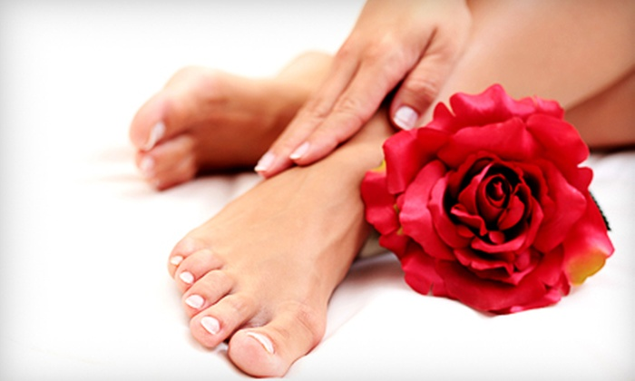 The Magical Touch Salon & Day Spa - Sunnyside: $19 for a Spa Mani-Pedi and Glass of Champagne at The Magical Touch Salon & Day Spa in Woodside ($44 Value)