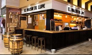 El Rincón de Lupe: Menú para 2 o 4 con raciones, tabla de tostas, postre y bebida por 16,95 € en el Mercado de Chamberí, El Rincón de Lupe