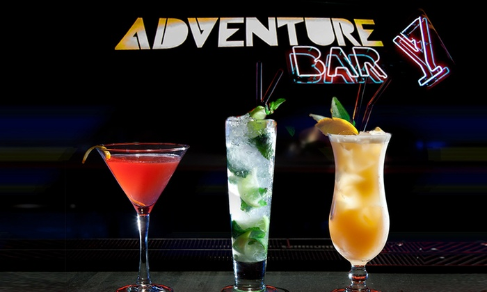 Adventure Bar - Multiple Locations: Three or Six Cocktails at Adventure Bar, Three Locations (Up to 63% Off)