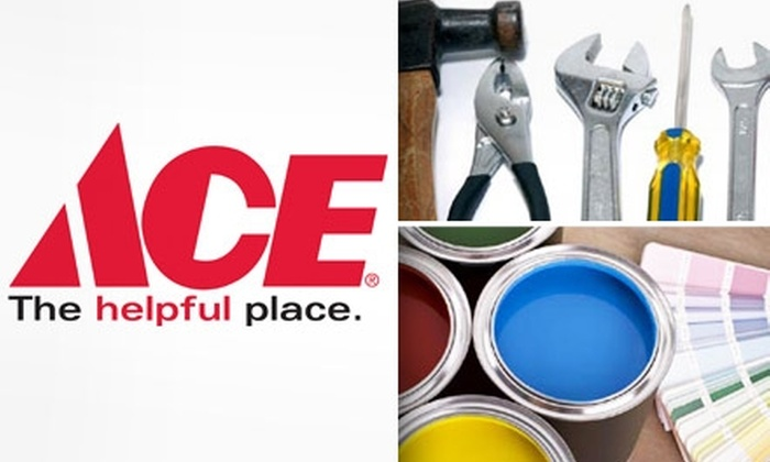 Ace Hardware - Multiple Locations: $10 for $20 Worth of Home Improvement Supplies at Ace Hardware. Choose From Five Sets of Locations.