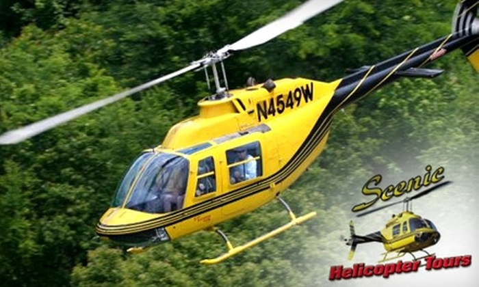 Scenic Helicopter Tours - Sevierville: $18 for a Douglas Lake Flight (Up to $36.13 Value) or $87 for a Wears Valley Flight (Up to $173.01 Value) at Scenic Helicopter Tours