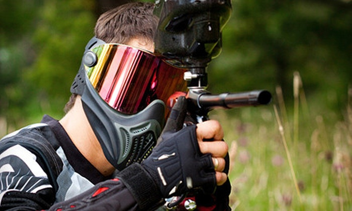 Action Games Paintball - Tewksbury: $50 for Paintball Package for Two at Action Games Paintball ($100 Value)