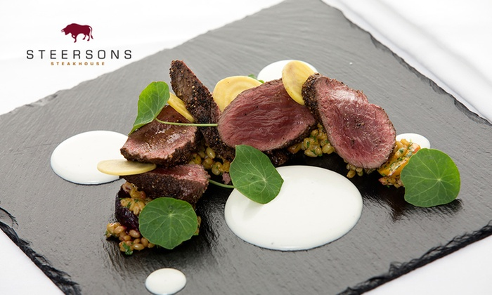 Steersons Steakhouse - Lime Street - Darling Harbour: $120 for $150 to Spend on Food and Drinks at Steersons Steakhouse - King Street Wharf