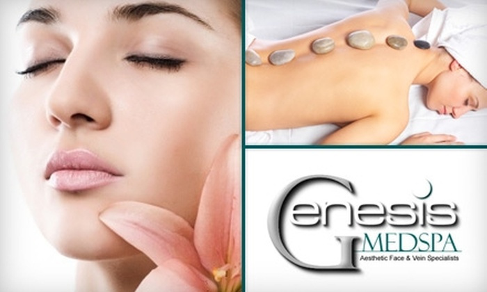 Genesis Medspa - Multiple Locations: $49 for Your Choice of a Microdermabrasion Facial or a Hot-Stone Massage at Genesis Medspa