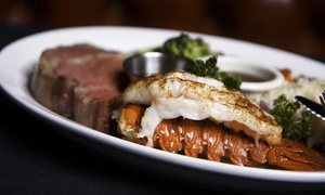 Cafe La Maze: Classic Steak-House Food and Drinks for Lunch or Dinner at Cafe La Maze (40% Off)