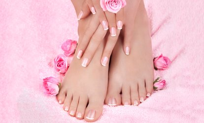 image for Gel Manicure ($25) + French Tips ($30), or Regular Pedicure ($35) with French Tips ($40) at Nailz 27 (Up to $65 Value)