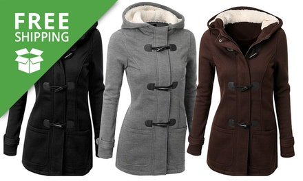 Free Shipping: Hooded Coat with Toggle Buttons: One ($29) or Two ($49)