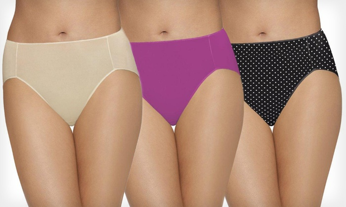 Bali No Lines No Slip Underwear Six-Pack: $18.99 for 6-Pack of Bali Tailored Briefs or High-Cut Panties ($56 List Price). 15 Options Available. Free Shipping.