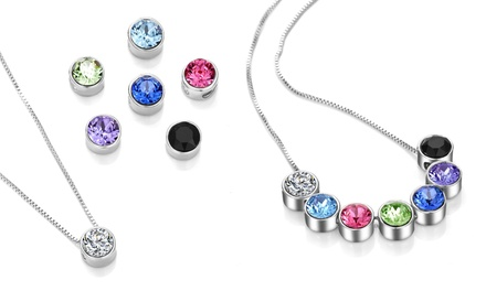One or Two Philip Jones Interchangeable Necklaces with Crystals from Swarovski®
