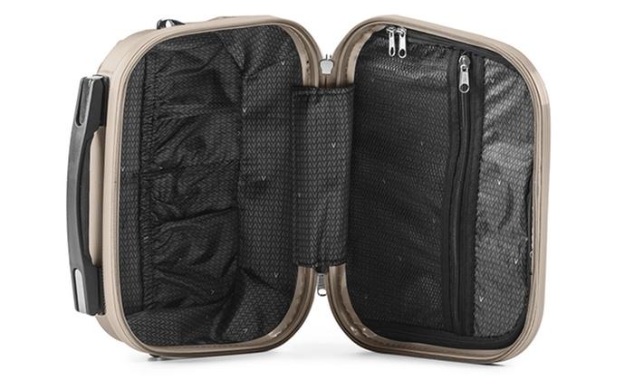 valise cabine et vanity abs air v groupon. Black Bedroom Furniture Sets. Home Design Ideas