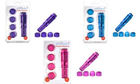 Shibari Pocket Pleasure Intimate Mini Vibrator with 4 Attachments 6640aafc-a2fd-11e7-b9f2-00259069d868