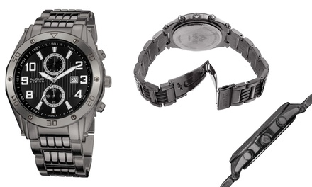 Mens Quartz Sports Multi-Function Bracelet Watch