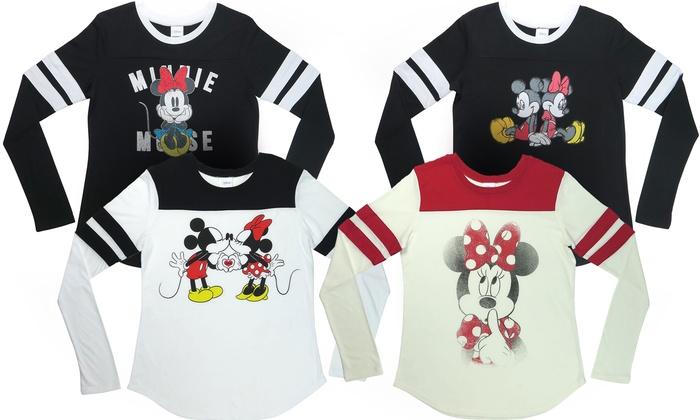 Women's Mickey and Minnie Varsity Tees