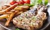 L'ardoise du boucher de 800 g et 2 desserts, pour 2 personnes à 39,90 € au restaurant Le Boeuf Sur Le Quai d'Agrippa