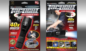 Bell and Howell Tactical LED Flashlight with Magnetic Base