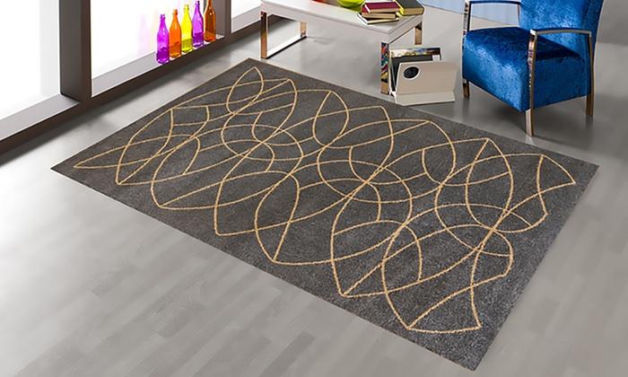 Groupon Goods Global GmbH: Teppich mit geometrischen Mustern 133 x 190 cm in der Farbe nach Wahl (53% sparen*)