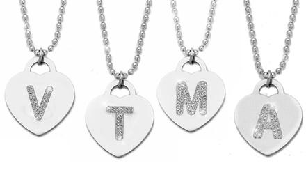 Collana Be-Jewels con lettera e cristalli Swarovski®