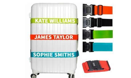 Personalisierter Kofferanhänger oder Koffergurt mit Namen vom Geschenkemarkt