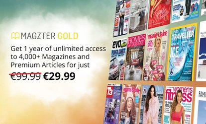 image for 12-Month Magazines Subscription for Up to Five from Magzter (74% Off)
