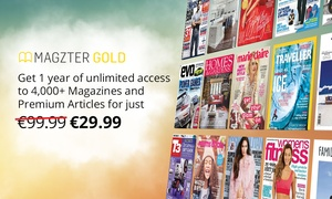 Magzter: 12-Month Magazines Subscription for Up to Five from Magzter (74% Off)