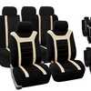 Airbag-Compatible Sports Seat Covers with Rear Split