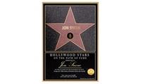Certificado de Estrella Hollywood Boulevard digital personalizado por 4,95 €con Quiero La Luna