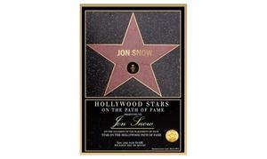 Quiero La Luna: Certificado de Estrella Hollywood Boulevard digital personalizado por 4,95 €con Quiero La Luna