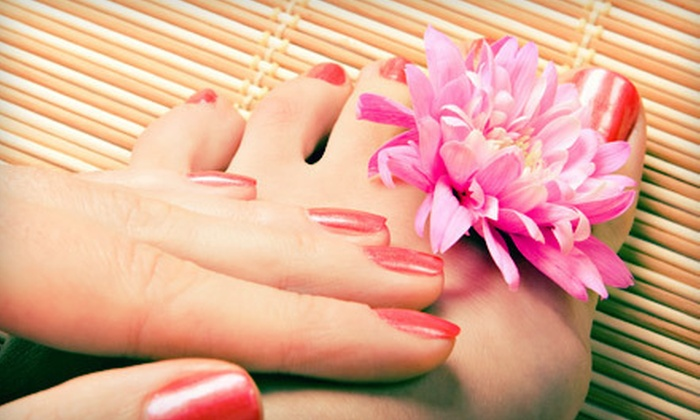 Allendale Nails - Allendale Nail: Regular Pedicure with Gel-Polish Manicure or French-Tip Manicure at Allendale Nails (Up to 57% Off)