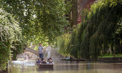 45-Minute Chauffeur-Guided Cambridge Punting Tour for One or Two from The Cambridge Punting Company (Up to 35% Off)